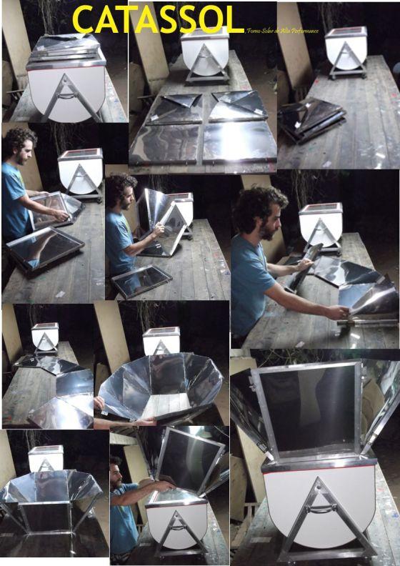 Refletor desmontável, facilita o transporte.