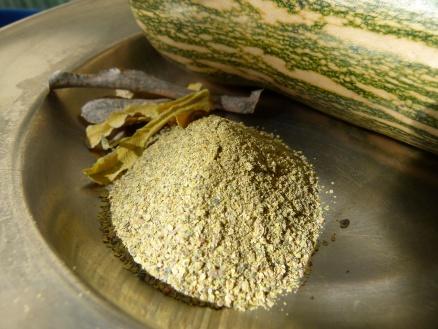 Farinha de casca de abóbora